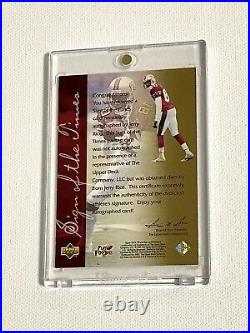 1997 Upper Deck Jerry Rice Sign of the Times Auto SP Autograph 49ers Signed