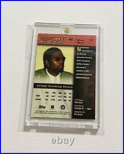 1998 Topps Randy Moss Rookie Autograph Minnesota Vikings Auto SP Signed RC