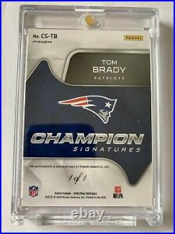 1 of 1 2020 Spectra Tom Brady LIII 53 2018 Champion Signatures Auto Patriots 1/1