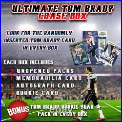 2000 Contenders Ultimate Tom Brady Hot Box 8 Packs + Auto + Jersey + Rookie