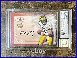 2000 Fleer Autographics Silver #17 Tom Brady ROOKIE RC /250 BGS 8 10 AUTO PSA