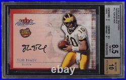 2000 Fleer Autographics Tom Brady ROOKIE RC AUTO #17 BGS 8.5 NM-MT+ PMJS