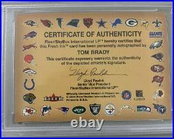 2000 Fleer Autographics Tom Brady Rookie Auto Psa 9! Very Low Pop