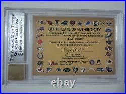 2000 Fleer Autographics Tom Brady Signed Autographed Rookie Auto Bgs 8.5 10 Auto