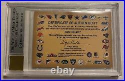 2000 Fleer Tradition Tom Brady Autographics #17 Rookie Rc Auto Bgs 8.5 Auto 10
