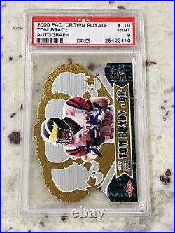 2000 Pacific Crown Royale Tom Brady Autograph Card #110 PSA 9 Mint 1/100