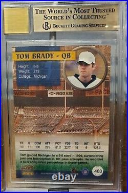 2000 Pacific Football Tom Brady ROOKIE RC AUTO #403 BGS 9.5 & 10 GEM MINT SP/200