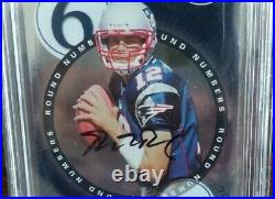 2000 Playoff Contenders BGS 9 MINT AUTO 9 Tom Brady Round Numbers Rookie RC