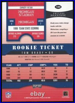 2000 Playoff Contenders Rookie Ticket #144 TOM BRADY RC Rookie Signed AUTO