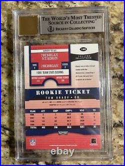 2000 Playoff Contenders Rookie Tom Brady BGS 8.5.5 Away (scratch on case)