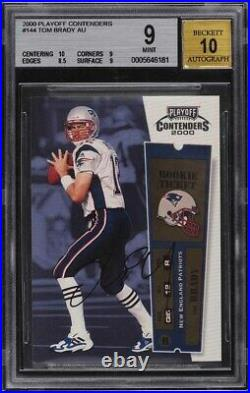 2000 Playoff Contenders Tom Brady ROOKIE AUTO #144 BGS 9 MINT 10 centering