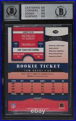 2000 Playoff Contenders Tom Brady ROOKIE RC AUTO #144 BGS 8.5 NM-MT+