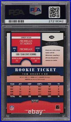 2000 Playoff Contenders Tom Brady ROOKIE RC AUTO #144 PSA 10 GEM MINT