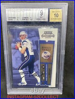 2000 Playoff Contenders Tom Brady ROOKIE RC AUTO BGS 9 MINT. 5 FROM 9.5! 10 AUTO