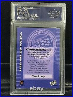 2000 Press Pass Tom Brady Certified Auto PSA 10 GEM MINT Low Pop