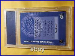 2000 Press Pass Tom Brady Rc Auto Psa 9 Mint Rookie of a true GOAT