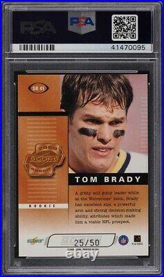 2000 Score Preview Roll Call Tom Brady ROOKIE RC AUTO /50 #SR41 PSA 9 MINT