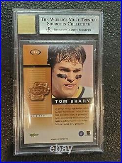 2000 Score Rookie Preview Autographs #SR41 Tom Brady, Beckett Mint and 10 Auto