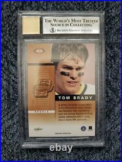 2000 Score Rookie Preview SR41 Tom Brady BGS 9 Mint Auto 10 GEM Autograph NFL