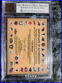 2000 Tom Brady Fleer autographics RC BGS 6 / auto BGS 8