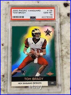 2000 Tom Brady Pacific Vanguard Rookie Rc Mint Only Psa 10 On Ebay $$