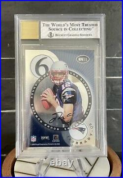 2000 Tom Brady Playoff Contenders BGS NM+ Auto 10! Round Numbers Rookie Card