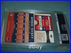 2000 Tom Brady Playoff Contenders Rookie Ticket Psa Dna Authentic Auto 9