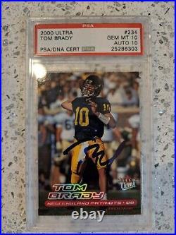 2000 Tom Brady Ultra PSA GEM 10 AUTO 10