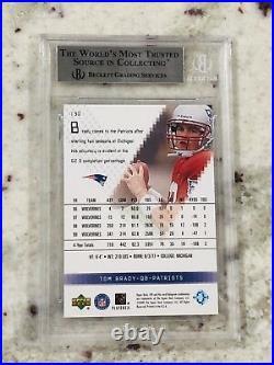 2000 Tom Brady Upper Deck Spx Rookie Rc Mint #130 High Subs! Bgs 9 9.5 10 Ssp