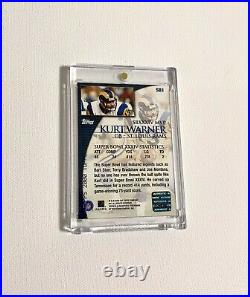 2000 Topps Kurt Warner Super Bowl Autograph SP Rams Game Used Football Auto Rams