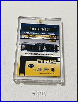 2001 Playoff Contenders Ladainian Tomlinson Rookie Ticket Autograph Sample Auto