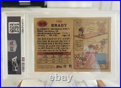 2002 Tom Brady Topps Heritage Auto PSA 7 NM Vintage Topps Certified Autograph