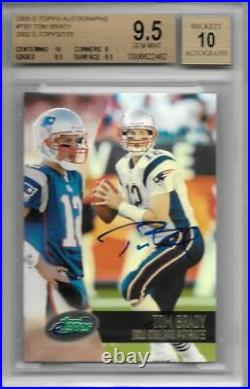 2002 Tom Brady Topps eTopps Auto- BGS 9.5 Gem Mint with10 sub. Only 155 signed