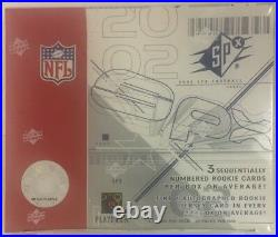 2002 Upper Deck SPX Football Hobby Box Factory Sealed