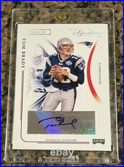 2004 Tom Brady Playoff Prime Signature Proof Auto Card Rare Autograph # /55