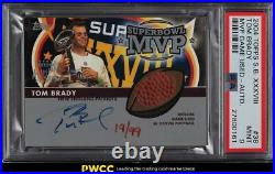 2004 Topps Super Bowl XXXV111 MVP Tom Brady AUTO PATCH /99 #38 PSA 9 MINT