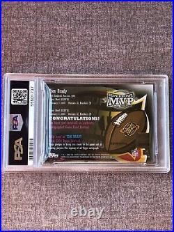 2004 Topps Super Bowl XXXVIII MVP Tom Brady Patch Auto Autograph /99 PSA 7 NM