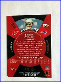 2005 Topps Finest Blue Xfractor Tom Brady #105 13/150 Rare Sharp Card