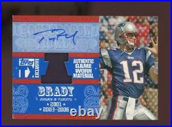 2007 Topps TX Exclusive Tom Brady Jersey Auto Autograph