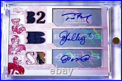 2008 Triple Threads White Whale Tom Brady Joe Montana Elway PATCH AUTO /1