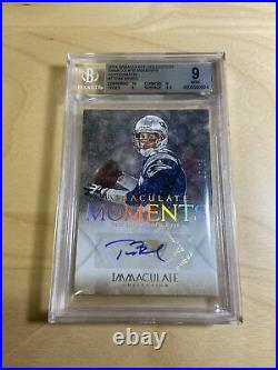 2014 Immaculate Collection Tom Brady Auto /25 BGS 9 Immaculate Moments #7 RARE