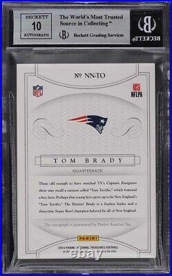 2014 National Treasures Notable Nicknames Tom Brady AUTO /25 #23 BGS 9 MINT