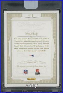 2014 Panini Flawless Greats Gold #9 Tom Brady 10/10 Auto Autograph