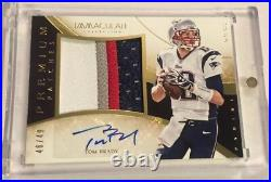 2014 Panini Immaculate Premium Patches TOM BRADY PATCH AUTO /49 SB CHAMPS GOAT