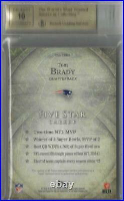 2014 Tom Brady Topps Five Star Auto Card- BGS 9.5 Gem Mint