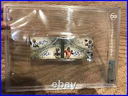 2014 Topps Five Star Quad Auto. Brady Manning Rodgers Brees