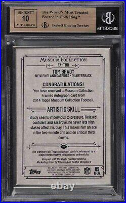 2014 Topps Museum Collection Framed Silver Tom Brady AUTO /25 BGS 10 PRISTINE