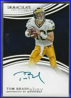 2016 Panini Immaculate On-card Auto Tom Brady Serial #06/25 Bucs The Goat Pats