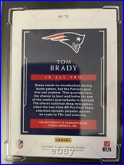 2016 Tom Brady High End National Treasures 5/10 Graded 9.5 and 10 on Card Auto