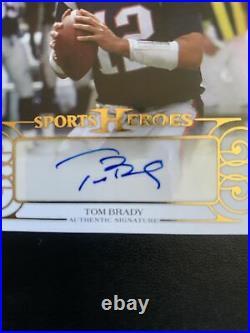 2016 Tom Brady Leaf Sports Heroes On-Card AUTO /15 SP